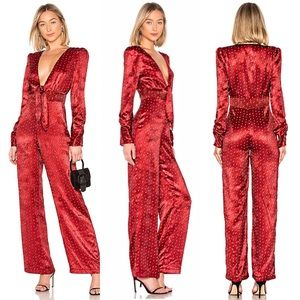 HOUSE of HARLOW SILKY JUMPSUIT REFORMATION REVOLVE